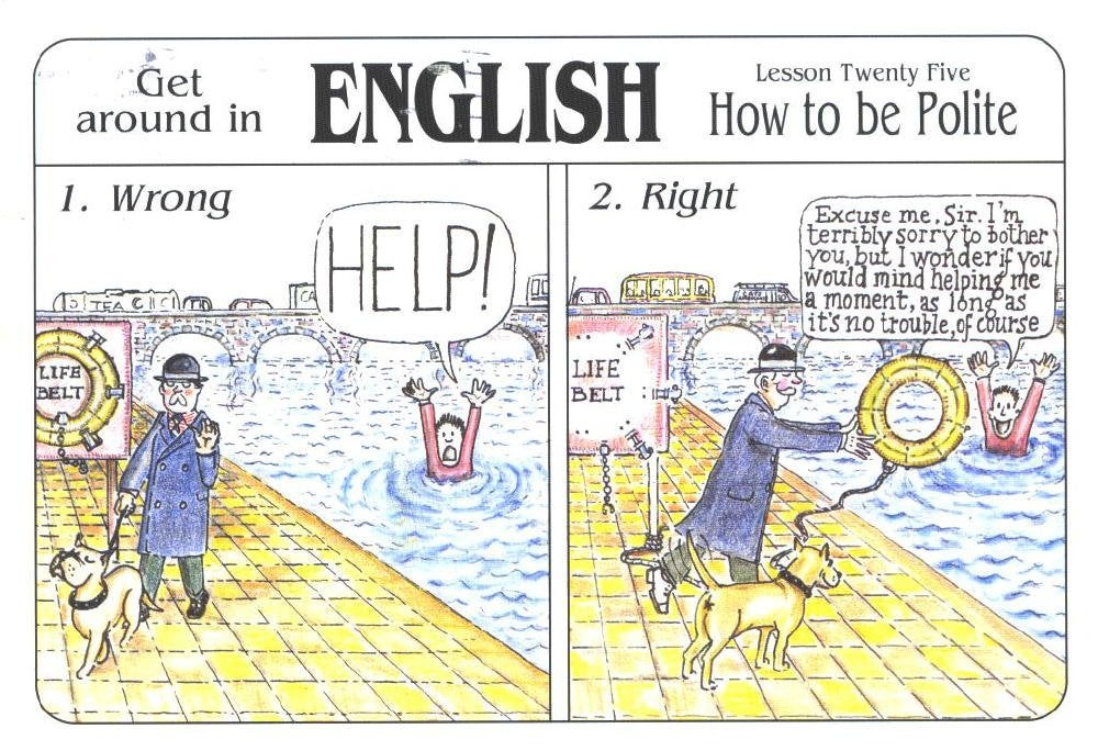 PS English Tweets – Speaking politely (丁寧な表現)